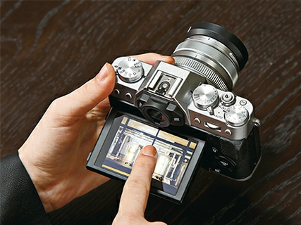 Electronic Viewfinder & Tilting Touch Monitor