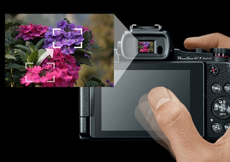 Electronic Viewfinder with Touch and Drag AF