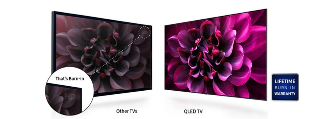 QLED TV Lifetime Burn-In Warranty