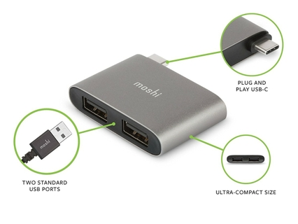 USB-C to Dual USB-A Adapter